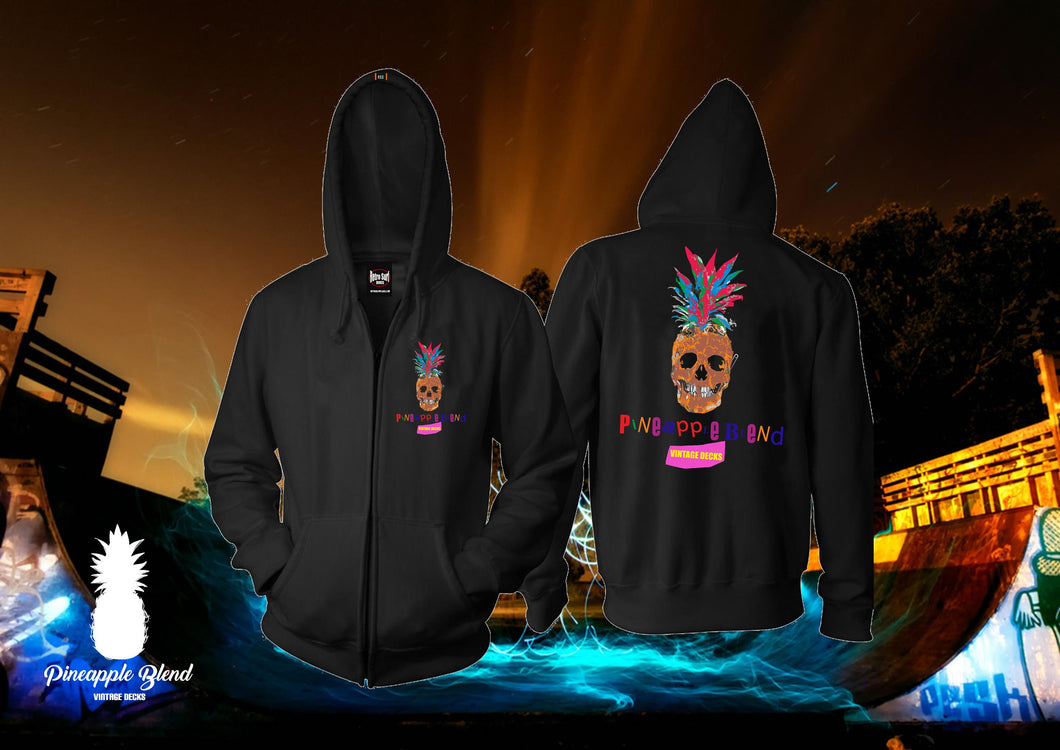 Punk Pineapple Zip Up Hoodie