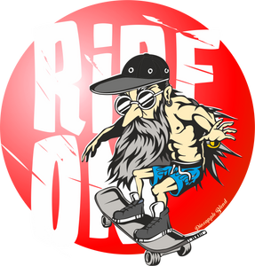 Ride On  Red circle Logo T-Shirt