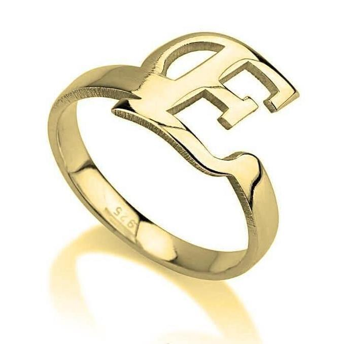 Monogram Halo Ring - 24k Gold Plated Rings / Gold Rings