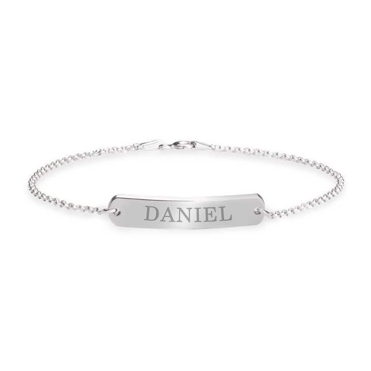 Namesake Bracelet with Classic Style Engraved Bar