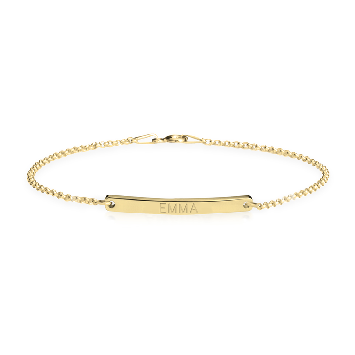 Namesake Bracelet with Slender Engraved Bar