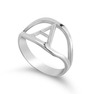 Custom Single or Couples' Initial Ring - Sterling Silver Rings / Silver Rings