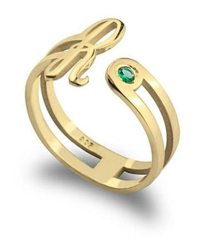 birthstone jewelry - 24k Gold Plated Rings / Gold Rings / Birthstone Rings