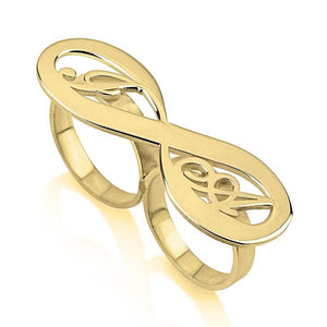 infinity ring - 24k Gold Plated Rings / Gold Rings