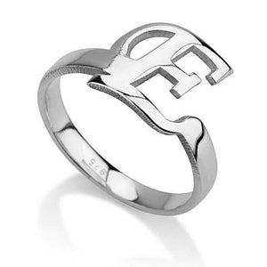 sterling silver monogram ring - Sterling Silver Rings / Silver Rings
