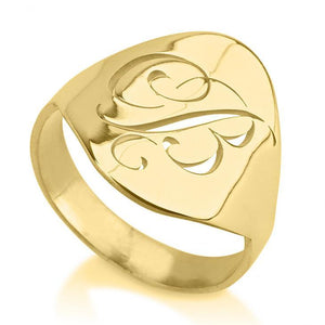 initial rings - 24k Gold Plated Rings / Gold Rings