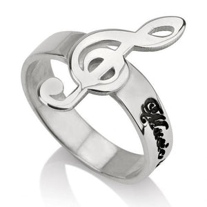 music ring jewelry - Sterling Silver Rings / Silver Rings