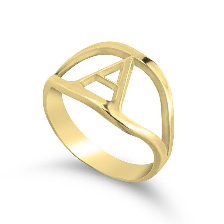 letter rings - 24k Gold Plated Rings / Gold Rings