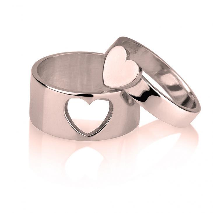 matching rings for couples - Custom Rose Gold Rings