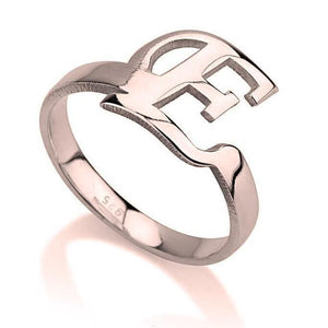 rose gold monogram ring - Rose Gold Rings