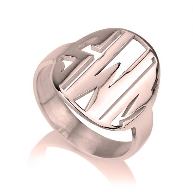 monogram jewelry - Custom Rose Gold Rings