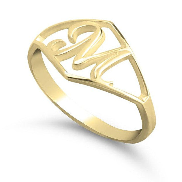 gold initial ring - 24k Gold Plated Rings / Gold Rings