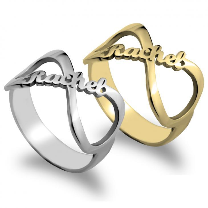 Custom Namesake Forever Yours Infinity Symbol Ring Personalized Name