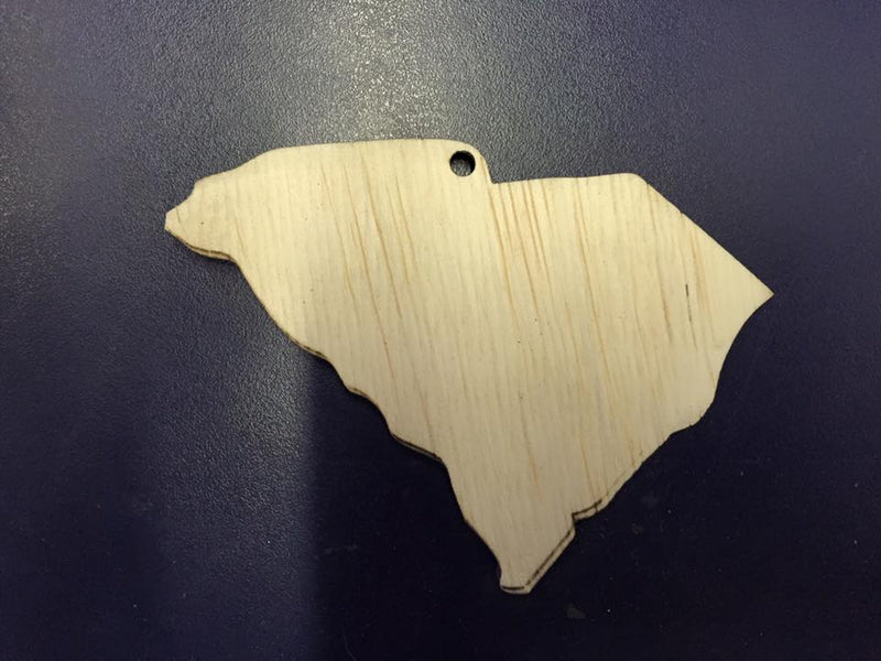 Wood -  State Keychains