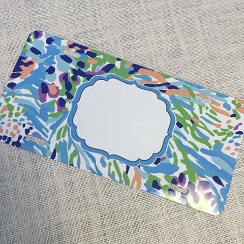 License plate- #1 Lilly Inspired