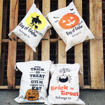 Halloween Bags  Canvas Drawstring option 2