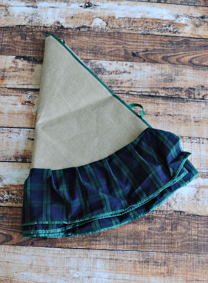 Green Plaid Tree Skirt