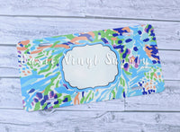 License Plate- Lilly Print 1