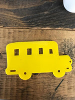 Acrylic YELLOW School Bus