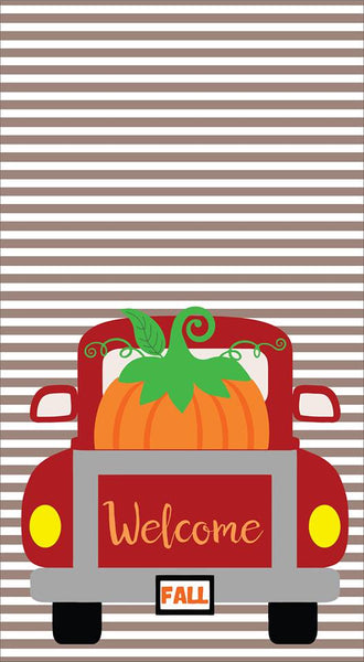 Garden Flag-  Welcome Fall  Red Truck