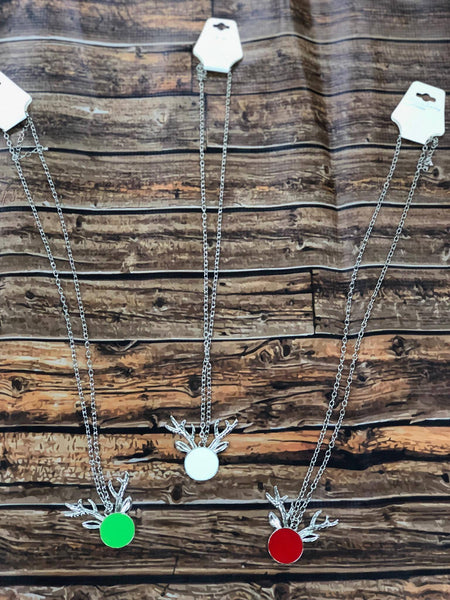 Deer Monogrammable Necklace SILVER