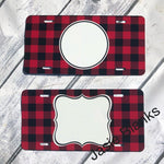 License plate- Buffalo Plaid