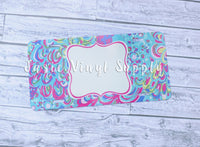 License Plate- Lilly Print 2