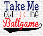 BASEBALL- Take Me OUT to the ball game  - Transfer