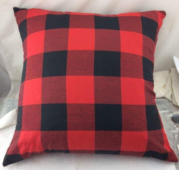 Pillow cover- Red/Black Plaid