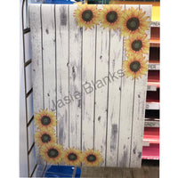 Garden Flag- Sunflower Flag -White Wash