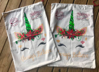 Unicorn Santa Sacks
