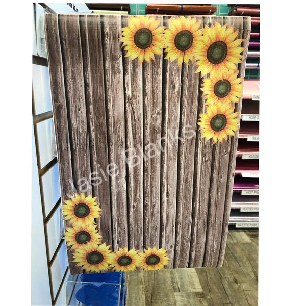 Garden Flag- Sunflower Flag - Wooden
