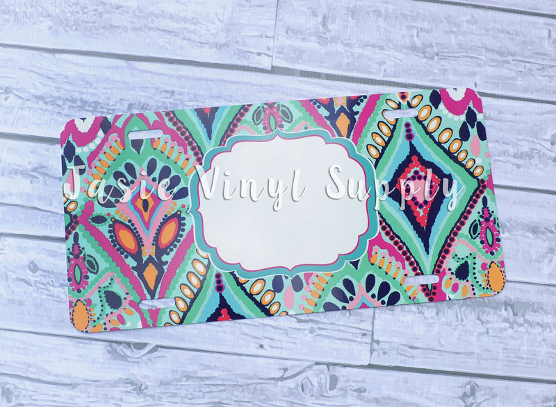 License Plate- Lilly Print 5
