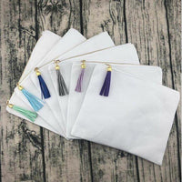 White with Tassel Cosmetic bags