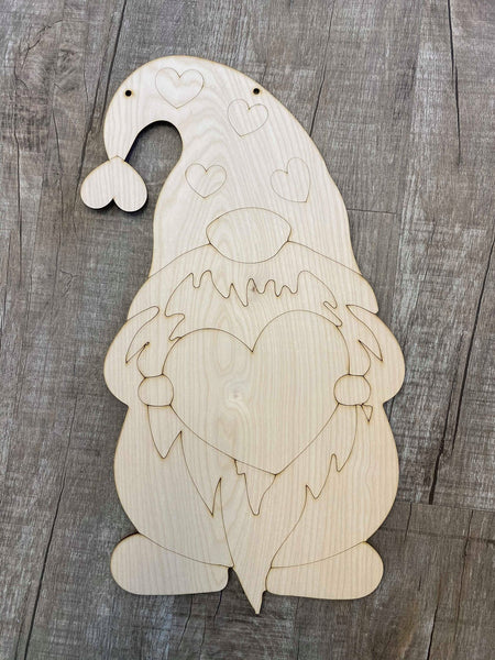 Valentine Gnome Wood Design