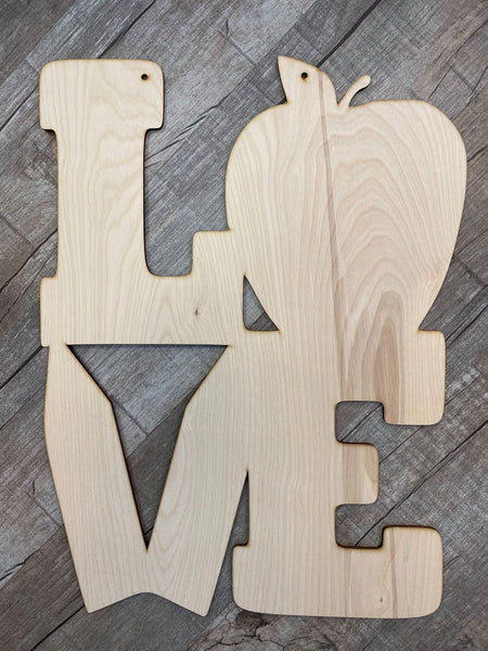 LOVE Teacher  Wood Design