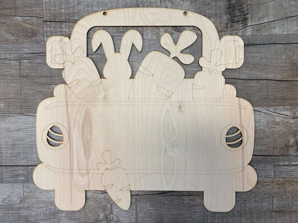 Easter Truck Wood Design