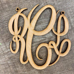 Fancy Script Monogram Car Charms