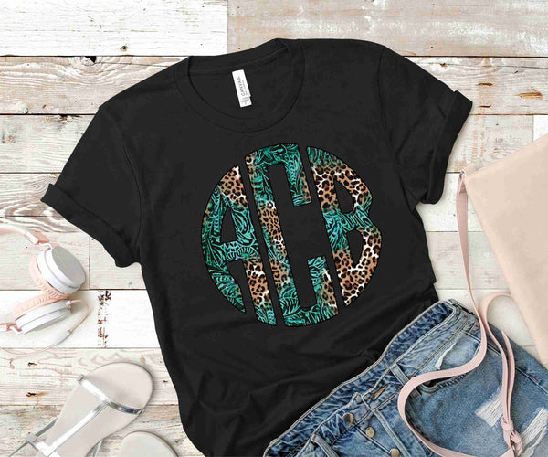 Animal Print Monogram Transfer