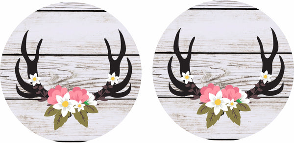 Antler Floral Car Coaster