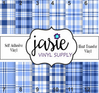 Blue Plaid Printed Vinyl