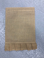 Burlap Garden Flag - ruffle solid color