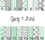 Grey and Mint
