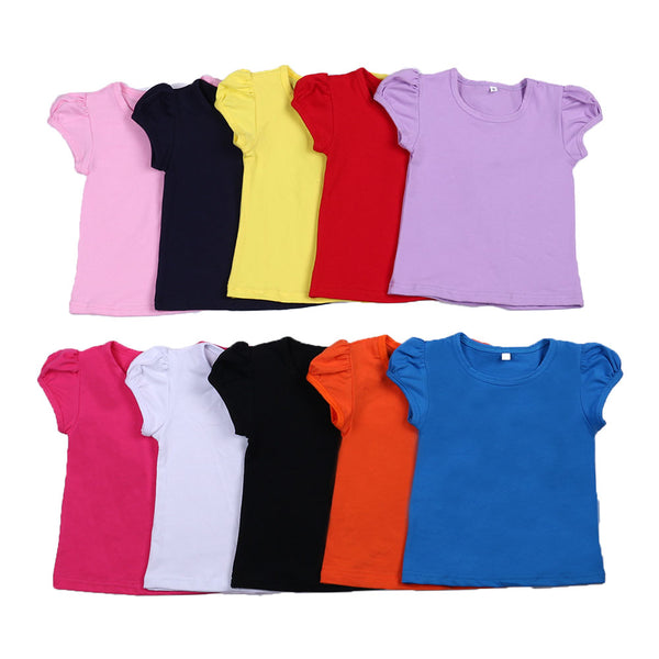 Girls Ruffle Cuff Short Sleeve