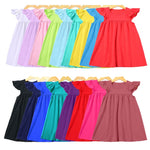 Girls Flutter Ruffle Top Dress