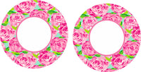 Lilly 47 Roses Car Coaster
