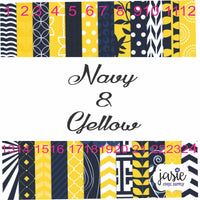 Navy and Yellow Printed Vinyl