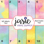 Pastel Watercolor Printed Vinyl