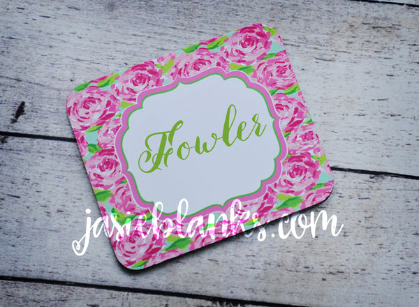 Lilly Pink Flowers Mouse Pad