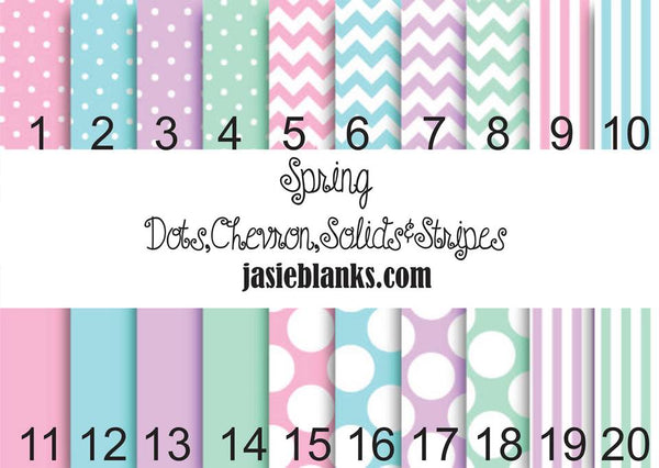 Spring Dots, Chevron and Stripes- Adhesive Outdoor Vinyl